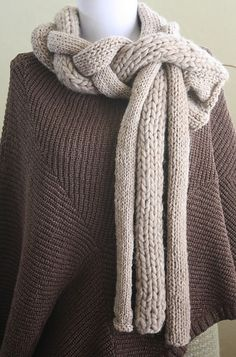 Consider making from knit material Braided scarf
