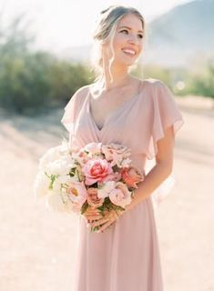 The prettiest shade of pink for this bridesmaid Bridesmaid Bouquet, Bridesmaid Dresses, Wedding Dresses, Bridesmaids, Garden Wedding, Getting Married, Destination Wedding, Bridal Parties, Chic
