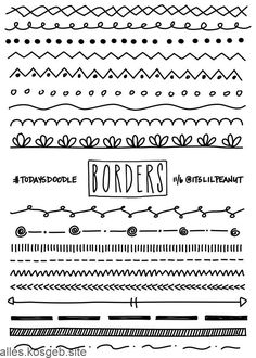 Simple Planner Doodles for Your Bullet Journal with Step by Step Per . Simple Planner Doodles Simple Planner Doodles for Your Bullet Journal with Step by Step Per . Simple Planner Doodles f. Borders Bullet Journal, Bullet Journal And Diary, Bullet Journal Banner, Bullet Journal Notes, Bullet Journal Aesthetic, Bullet Journal Inspiration, Journal Ideas, Bullet Journal Dividers, Journal Art