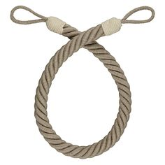 John Lewis Croft Collection Rope Tieback, Natural Linen