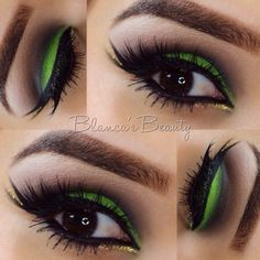 Gorgeous green by MUA: blancas_beauty using her Take Me to Brazil Eyeshadow Palette.