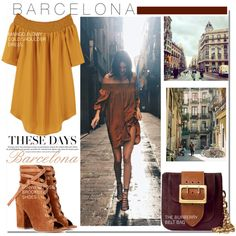 Barcelona... by nfabjoy on Polyvore featuring MANGO, Gianvito Rossi, Burberry, country and kendalljenner