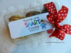 It's Written on the Wall: You're one smart cookie-Teacher Appreciation gift ideas