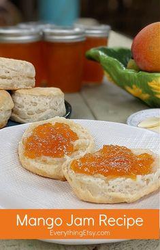 Jam Recipes, Sweet Recipes, Mango Jam, How To Make Jam, Strawberry Recipes, Yummy Food, Favorite Recipes, Homemade