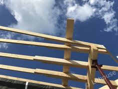 Building roof structure. #roof #timber Roof Structure, Netherlands, Construction, Building, Wood, House, The Nederlands, The Netherlands, Woodwind Instrument