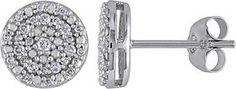 Amour Double Halo Diamond Stud Earrings.
