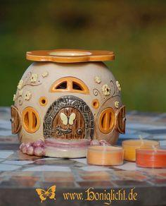 Duftlampe / Aromalampe / frangrance lamp Honiglicht-Keramik