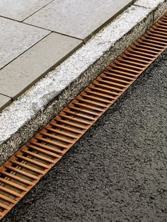 The Dock-Line water drain is made out of cast iron, and designed together with Arkitema. Making Out, Railroad Tracks, Denmark, Cast Iron, Sustainability, Urban, Lights, Architecture, Water