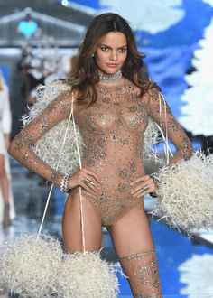 Model Barbara Fialho from Brazil walks the runway during the 2015 Victoria's Secret Fashion Show at Lexington Avenue Armory on November 10, 2015 in New York City.