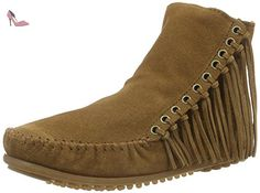 Minnetonka Fringed MOC - Taille 42 - Chocolat adidas Solar Drive St Chaussure De Course à Pied - AW18-47.3 Minnetonka Fringed MOC - Taille 42 - Chocolat Chaussures à lacets Adidas violettes femme Wd8S2