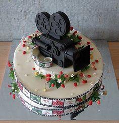Movie camera cake!