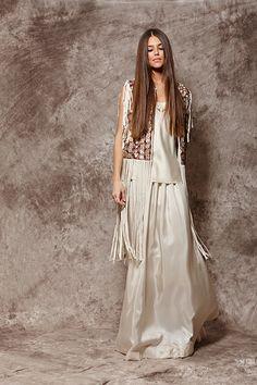 Chaleco estampado geométrico con flecos - 759,00€ : Zaitegui - Moda y ropa de marca para señora en Encartaciones