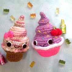 CROCHET DOLL PATTERN Ice Cream Cupcake Unicorn Poop Emoji, Amigurumi pattern, crochet toy pattern, unicorn poop, amigurumi free, kawaii by CreativeChaosArts on Etsy