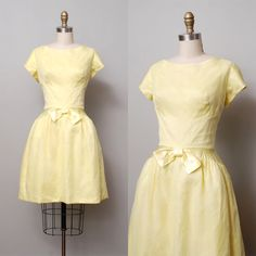 1950s Dress  Sunny Yellow Full Skirt Party by OldFaithfulVintage, $85.00