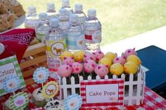 Pent up cake pops. See more barnyard birthday party and birthday parties for kids on www.one-stop-party-ideas.com