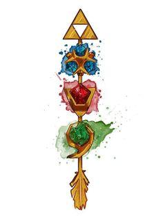 La Flecha elegida por la Diosa triforce arrow zora saphire goron ruby kokiri emerald ocarina of time - - Sheikah Zelda, Geeks, Tatoo Manga, Legend Of Zelda Tattoos, Image Zelda, Princesa Zelda, Gaming Tattoo, Nintendo Tattoo, Bild Tattoos