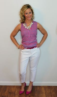 March Stitch Fix - Papermoon Norris Split Neck Blouse & Liverpool William Straight Leg Trouser @kellywinters126