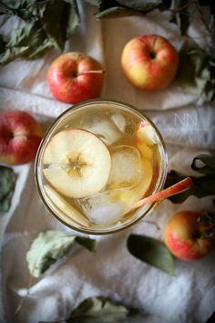 Bourbon Apple Shrub Cocktail by Nutmeg Nanny