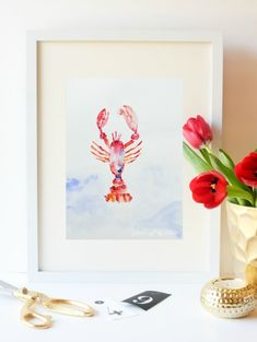 DIY Beachy Bathroom Update ! Including This Free Printable Coastal Watercolor Art  Instant Art Print!
