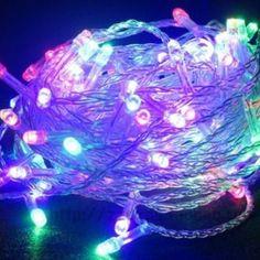 YOKIRIN® Guirlandes Lumineuses Déco 10M avec 50 LED Ampoules Multicolore Lumières Décoratives – Coloré