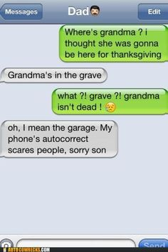 Autocorrect fails! Love these, they're so funny. LOL #1