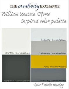 William Sonoma Home Inspired Paint Color Palette {Color Palette Monday}
