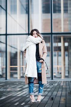 Alex's Closet - Missguided Coat, Levi's® Jeans - White plaid