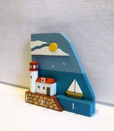 Key holder Wall Key Holder miniature house от KseniaBerzina