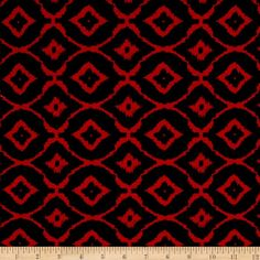 Jersey Knit Round Diamond Red from @fabricdotcom  This lightweight jersey knit fabric features a smooth hand and four-way stretch-75% stretch across the grain and 20% vertical stretch. This versatile fabric is perfect for making T-shirts, loungewear, yoga pants, skirts, dresses and more!