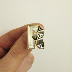 Labyrinth Letters  R  Enamel Pin