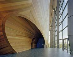 theatre, wood, entrance, high tech, grimshaw