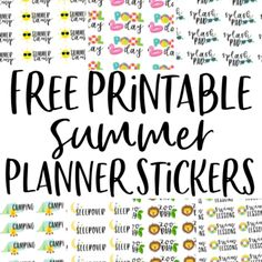 Free Printable Planner Stickers for Summer - Sarah White Free Summer, Summer Fun, Printable Planner Stickers, Free Printables, Best Summer Camps, Summer Planner, Teacher Stickers, Teacher Planner, Craft Projects