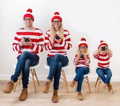 Buy Casual Striped Long Sleeve Round Neck Family Matching Outfits online with ch… - Halloween Costumes Funny Family Costumes, Disney Family Costumes, Costumes Kids, Zombie Costumes, Group Costumes, Crazy Costumes, Cute Costumes, Halloween Costume Contest, Creative Halloween Costumes