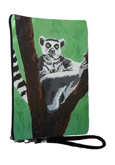 Lemur Large Vegan Wristlet, Pencil Bag, Cosmetic Bag - From My Original Paintings - Support Wildlife Conservation, Read How (Lemur - Sassy Socialite) * To view further, visit now : Christmas Luggage and Travel Gear