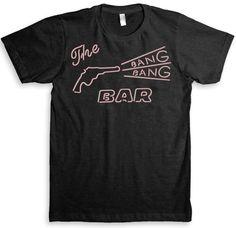 Twin Peaks T Shirt - David Lynch (Bang Bang Bar) - American Apparel Tri-Blend Unisex Fashion (Graphic Tees). $24.99, via Etsy.
