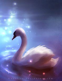 swan by Apofiss on DeviantArt