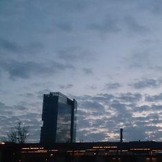 It's getting dark. #gdansk #wrzeszcz #railwaystation #skyporn #cloudporn #instasky #instagdansk #ilovemycity #ilovegdn