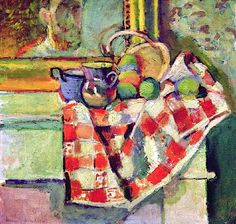 bofransson:  Still Life with a Checked Tablecloth, c.1903 (oil on canvas), Matisse, Henri (1869-1954)