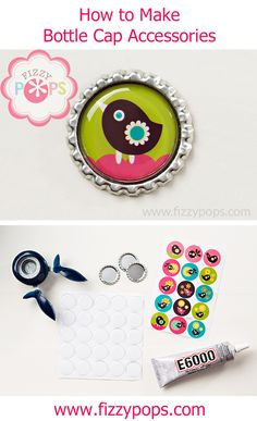 Bottle Caps are a fantastic and simple way to add a fun and different pop of color and personality to anything you can imagine. They look great on key chains, hair bows, backpacks, gift bags and much more.