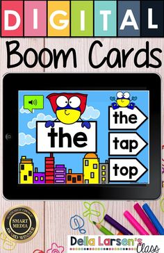 A fun new way for teaching sight words in your literacy and word work centers! Increase their reading fluency and build stronger readers. Boom cards are self-checking digital task cards, that provide your students with immediate feedback. Digital resources make learning sight words easier than ever. This deck has a video that introduces each word. #kindergarten #Boomcards #sightwords Reading Fluency, Reading Skills, Interactive Learning, Fun Learning, Word Work Centers, Literacy Centers, One Card Reading, Read To Self, Learning Sight Words