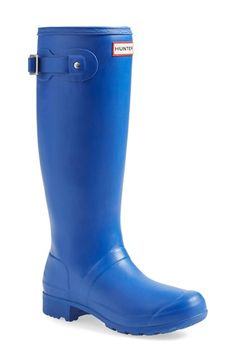 Hunter 'Tour' Packable Rain Boot (Women) available at #Nordstrom Military Red please