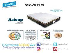 Colchón Modelo Asleep Disponible en Todos los tamaños...