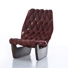 """[Patricia Urquiola """"Biknit Easy Chair""""] She is one of my favourite of the modern designers. Deco Furniture, Luxury Furniture, Furniture Decor, Modern Furniture, Furniture Design, Unusual Furniture, Patricia Urquiola, Deco Luminaire, Bureau Design"""