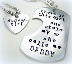 Personalized Handstamped Daddy daughter by StampologieShop on Etsy, $35.00     SWOON!!