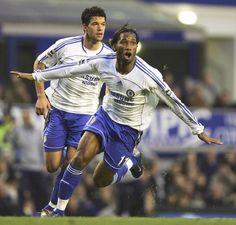 Didier Drogba & Michael Ballack