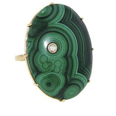 Andrea Fohrman Oval Malachite Ring