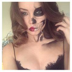 Halloween Make-Up  #Halloween #MakeUp #Skeleton #Glam