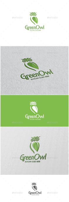 Green Owl  Logo Design Template Vector #logotype Download it here: http://graphicriver.net/item/green-owl-logo/13082753?s_rank=1108?ref=nexion