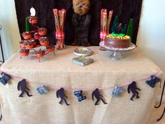 Our Bigfoot Birthday Party ~Julie Monster Birthday Parties, 10th Birthday Parties, Pirate Birthday, 12th Birthday, Birthday Party Themes, Birthday Ideas, Bigfoot Birthday, Bigfoot Party, Bigfoot Toys