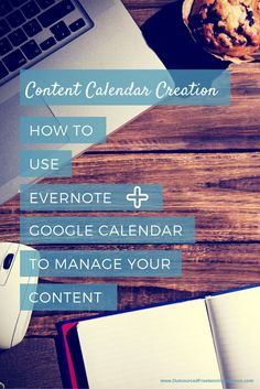 Using Evernote and Google Calendar to create a content calendar for your blog. See more tips like this on http://www.outsourcedfreelancingsuccess.com